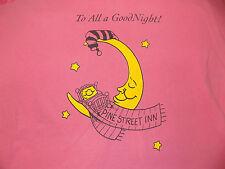 Pine Street Inn To All a Good Night ! T Shirt Size XL Pink