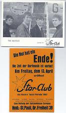 THE BEATLES Star-Club Autogrammkarte + Star-Club Postkarte