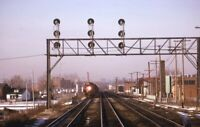 Unidentified Railroad Locomotive Train Signal Original 1974 Photo Slide