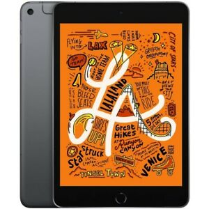 "Apple iPad Mini 5th Gen (Wi-Fi + 4G Cellular, 64GB) 7.9"" Fully Unlocked Gray"