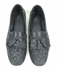 Bass Shoes Mens 10 Black Soft Leather Broward Tassel Kiltie Loafers