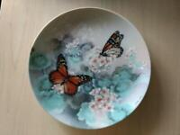 Butterfly Collector Plate Vintage Monarch Butterflies by Lena Liu on W.S. George