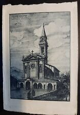 1925 - Selvino - Studio di ampliamento della Parrocchiale