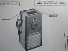 AUTOMATIC TOM THUMB CAMERA RADIO PHOTOFACT