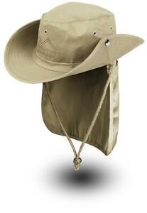 Buschhut Outdoor Schlapphut Outback mit abnehmbarem Nackenschutz UV-Sonnenschutz