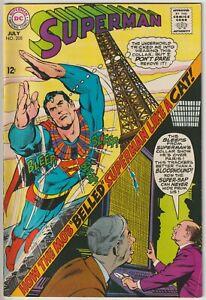 Superman #208 VF- 7.5 DC Silver Age, 1968, original owner books tonight