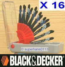 16 x Black & Decker Jigsaw Blades Wood And Metal Cutting Bayonet T Shank Jig Saw