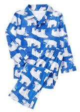 Gymboree Boys Gymmies Sleepy Robot Pajamas PJs Alarm Clock Blue 12-18 M