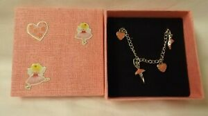 Ballet theme charm bracelet with pink decorated gift box (3)