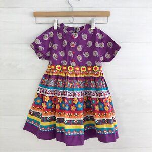Vintage Buffy for Cinderella - Bright floral shirt dress, sz 5
