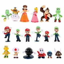 18pcs Super Mario Bros Action Figures Display Play Set Cake Topper Decor Kid Toy