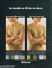 PUBLICITE ADVERTISING 055  1968  EMINENCE  t-hirt polo homme