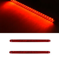 9 Red LED Truck Trailer RV Brake Stop Turn Tail Lights//Chrome Base 2 United Pacific