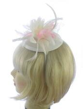 cremefarben und pink Kopfschmuck Stirnband, Ascot, Hochzeit, Abiball