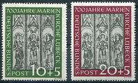 Bund Nr. 139 - 140 sauber postfrisch Marienkirche Lübeck BRD 1951 Michel 220 €