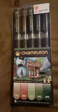 Chameleon NATURE TONES Changing Color Double-Ended 5 Pens