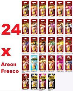 24 x Air Freshener Areon Fresco MIX Car Aroma Quality Perfume Tree HOME OFFICE