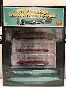 Micro-Trains BNSF Fuselage Transportation 4 pack N Scale