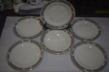 Six Bread and Butter Plates - W. S. George Derwood - Gold Trimmed