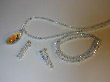 Set Swarovski® Beads Necklace Bracelet Earring 925 Silver ABorealis Crystal  3mm
