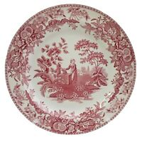 """The Spode Archive Collection Georgian Series Girl At Well Pink Dinner Plate 10"""""""