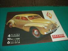 RARE DEPLIANT RENAULT 4CV 1947 D ORIGINE - NO COPY