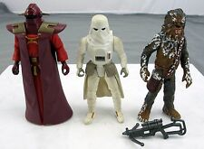 Star Wars 3.75'' Kenner Figures Snow Trooper Hoth Chewbacca & Imperial Sentinel