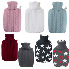 1.8 Litre Classic Comfort Rubberless Hot Water Bottle With Premium Knitted Cover