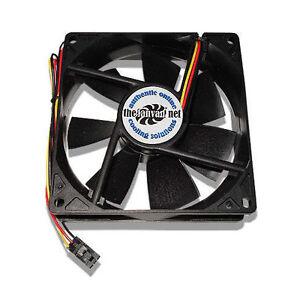 New 92mm Fan w/ Dell 3 pin replaces Nidec Beta V TA350DC + Rubber Mounts