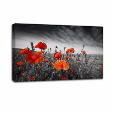 Poppy Flower Photo Canvas Prints Poster Home Wall Art Decor Painting-No Frame