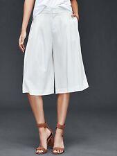 Gap Women's New Off White Wide Leg Crop Pants Size 6 Tall
