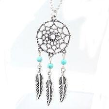 Retro Women Lady Dream Catcher Pendant Long Chain Necklace Sweater Jewelry B2H8