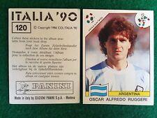 ITALIA 90 1990 n 120 RUGGERI ARGENTINA , Figurina Sticker Panini NEW