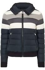 PERFECT MOMENT QUEENIE WOOL TRIMMED STRIPED QUILTED DOWN SKI JACKET XLARGE