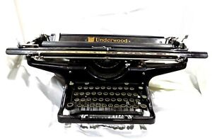 "Very Rare 1935 Underwood Typewriter #6 Wide Carriage (20"") SN 4327484-20"