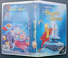 VHS tape black diamond classic THE SWORD IN THE STONE model 229