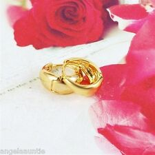 18K Yellow Gold Filled Huggies Earrings (E-262)