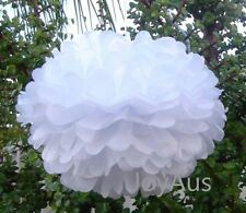 6x white tissue paper pom poms wedding birthday party baby shower bar decorstion
