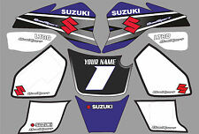 suzuki lt80 quad graphics stickers decals name & number lt 80 mx laminate white