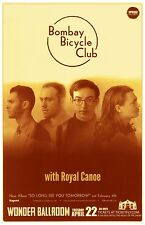 BOMBAY BICYCLE CLUB 2014 Gig POSTER Portland Oregon Concert