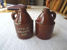 """Vintage Little Brown Jug Salt And Pepper Shaker Set """" Awesome Collectable Set """""""
