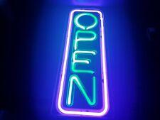 Big Vertical Neon Open Sign Light Opensign Restaurant Business Bar Bright
