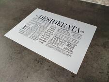 Desiderata A4 print