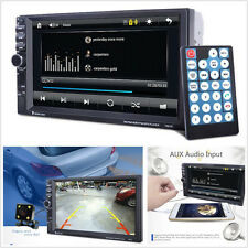 "Car 7"" 2 Din In-Dash GPS Navigation Bluetooth Touch Screen Stereo MP3 Player USB"