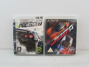 NEED FOR SPEED PS3 BUNDLE INCLUDING PRO STREET AND HOT PURSUIT PLAYSTATION 3#ET#