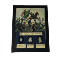 The United States Infantry Civil War Bullet Set with Glass Top Display Case