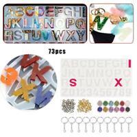 Alphabet Harz Silikonformen Buchstaben Nummer für Epoxy Formen DIY Herstellung