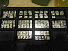 72 X 1 Gram  .999  Fine Silver no 2 a like  nice 58 art bars and 14 art rounds