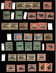 Guatemala 1913 to 1928 Overprints -Inverts, Possible Forgeries, Double Overprint