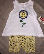 FISHER PRICE Baby Girls 12 Months Sleeveless Racer Back Top & Shorts Outfit NEW